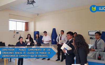 CAPACITACIÓN AL PERSONAL DE CALIDAD DE LAS FILIALES EN LA SEDE MOQUEGUA