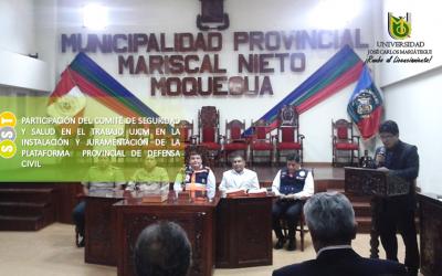 INSTALACIÓN Y JURAMENTACIÓN DE LA PLATAFORMA DE DEFENSA CIVIL DE MOQUEGUA