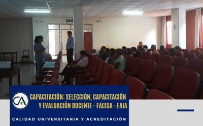 CAPACITACIÓN DIRIGIDA AL PERSONAL ADMINISTRATIVOS DE LAS ESCUELAS DE FAIA Y FACISA