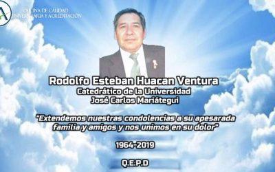 RODOLFO ESTEBAN HUACAN VENTURA 1964 – 2019