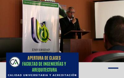 APERTURA DE CLASES FACULTAD DE INGENIERÍAS Y ARQUITECTURA